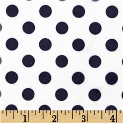 Minky Minnie Dots White/Navy