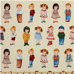 Today's Paper Dolls Dolls In A Row Cream