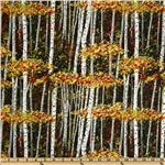 Exclusively Quilters Harvest Trees Yellow/Orange