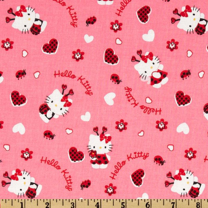 Hello Kitty Lady Bugs & Hearts Pink