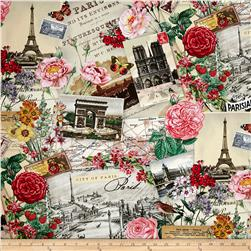 Spring in Paris Collage Cream