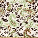 DB-419 Minky Cuddle Paisley Mocha/Olive