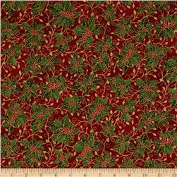 Holiday Accents Classics 2013 Metallic Holly Red