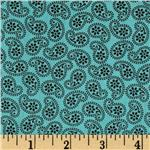 Road Well Traveled Tossed Paisley Teal