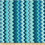 Chevron Chic Packed Chevron Aqua