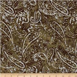 Timeless Treasures Tonga Batik Rockport Paisley Coffee