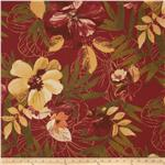 Tempo Indoor/Outdoor Floral Leaf Burnt Orange