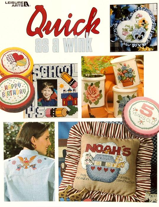 "Leisure Arts ""Quick As A Wink"" Cross Stitch Book"