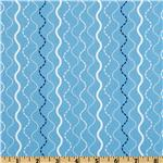 FR-594 Michael Miller Shore Thing Makin Waves Stripe Blue