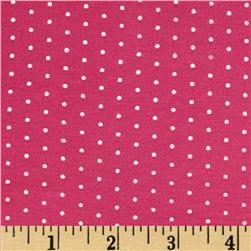 Stretch Bamboo Rayon Jersey Knit Dot Pink