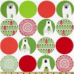 Brrr! Large Polar Bear Dots Holiday Red/Green