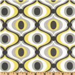EL-194 Michael Miller Citron Gray Feeling Groovy Citron