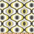 Michael Miller Citron Gray Feeling Groovy Citron