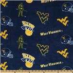 DV-742 Collegiate Fleece West Virginia Tossed Yellow/Blue