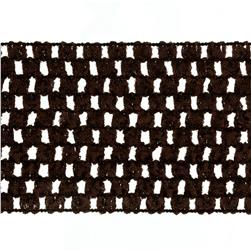 "2 3/4"" Crochet Headband Trim Chocolate"