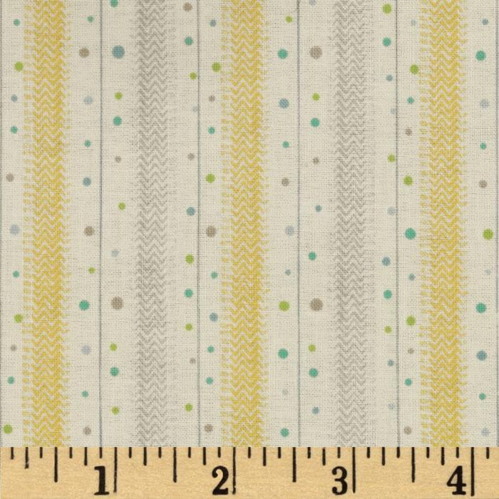Baby Business Dots N Twill Yellow/Grey