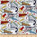 Riley Blake Super Hero Words White