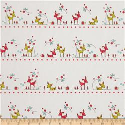 Folk Tale Animal Stripe White