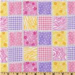 Comfy Flannel Coordinate Patch Pink/Lilac