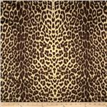 0265020 Crepe Satin Leopard Brown/Gold