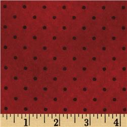 Buggy Barn Flannel Essentials 7 Dot Red