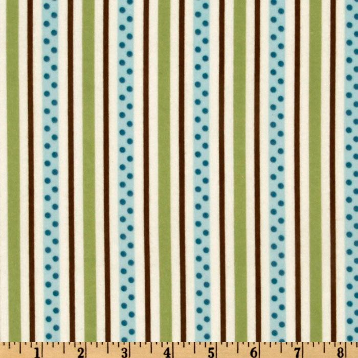 Cozy Cotton Flannel Dot Stripe Chocolate