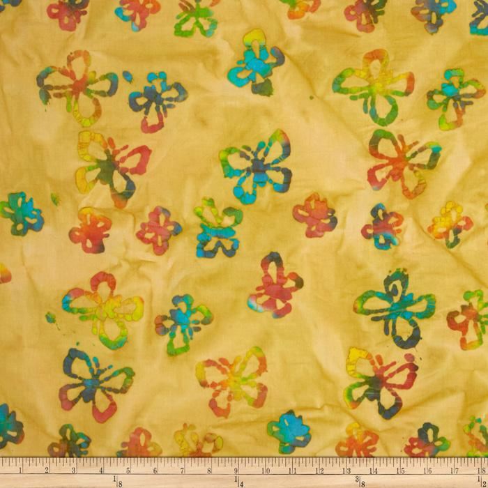 Indian Batik Butterflies Yellow/Multi