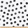 Scribble Dots White/Black