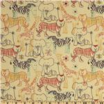 Fabri-Quilt Cuddle Flannel Safari Sketch Cream