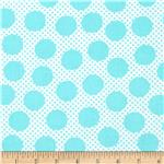 Michael Miller Cute Zoo Adorable Dots Aqua
