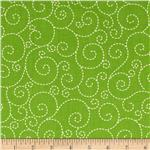Woodstock Stitched Swirl Green