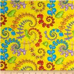 212515 Froggy Fun Butterfly Swirl Yellow