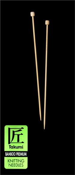Clover Takumi Bamboo Premium Knitting Needles Single Pt. 9''- US 1 (2.25mm)