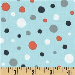 Critter Patch Organic Dots Aqua