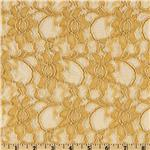0267090 Xanna Floral Lace Fabric Gold