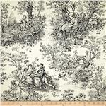 Timeless Treasures April in Paris Canvas Toile White