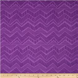 Timeless Treasures Apple of My Eye Matilde Abstract Chevron Purple