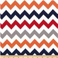 Riley Blake Flannel Basics Chevron Medium Boy Orange/Blue