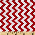 Chevron Chic Simple Chevron Red
