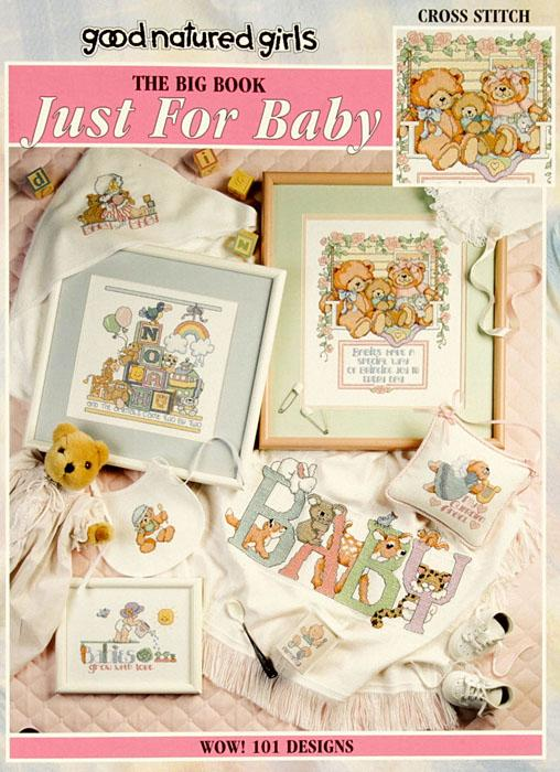 Leisure Arts &quot;Big Book Just for Baby&quot; Cross Stitch Book