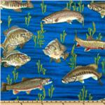220354 Winterfleece Swimming Fish Navy