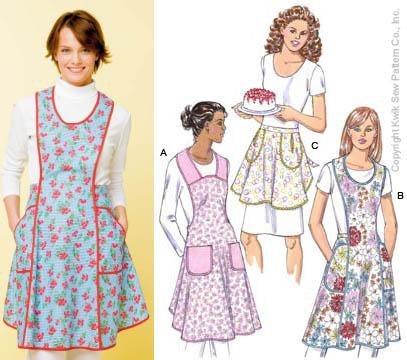 Kwik Sew Misses Aprons Pattern
