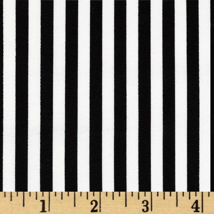Michael Miller Clown Stripe White/Black