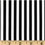 0269104 Michael Miller Clown Stripe White/Black