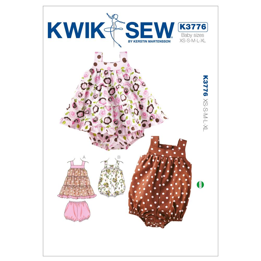 Kwik Sew Babies Dress, Bloomers & Romper Pattern