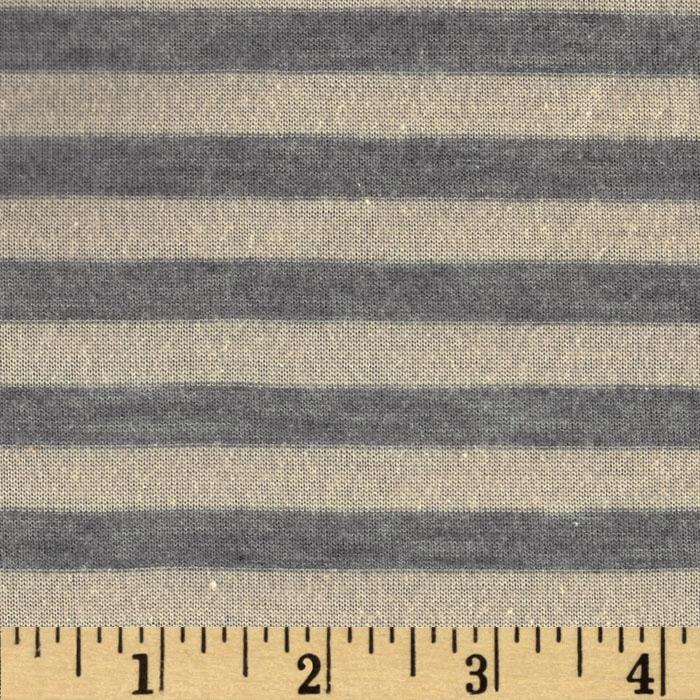 Designer Rayon Blend Tissue Jersey Knit Stripes Grey