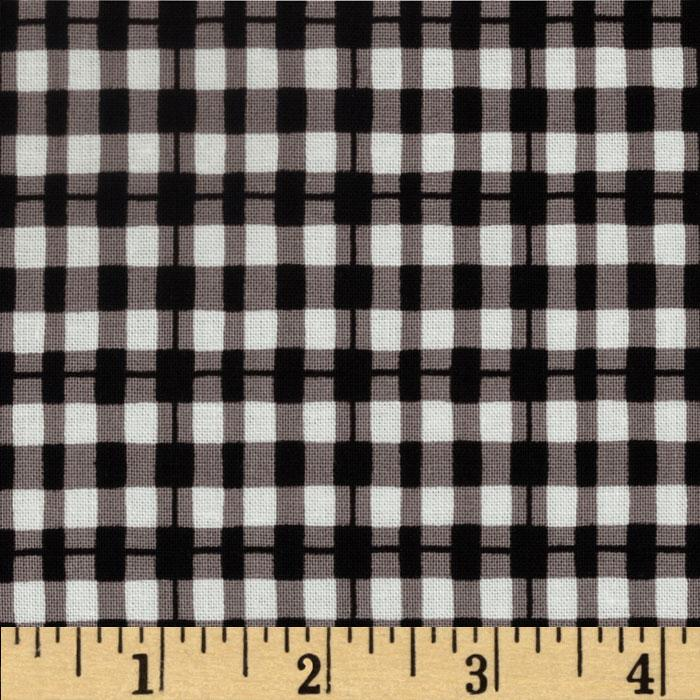 House and Home Plaid Black