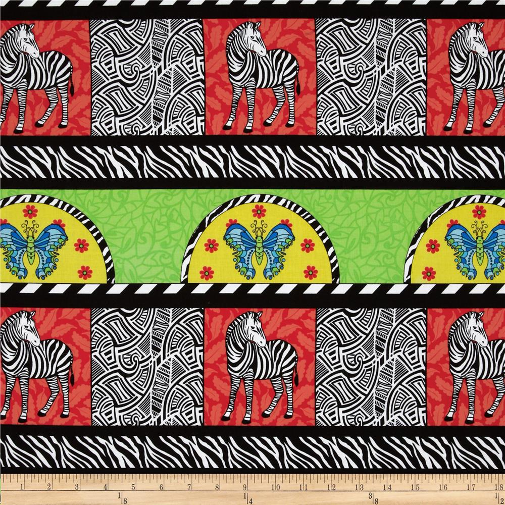 Geniuses Gone Wild Zebra Repeating Stripe Multi