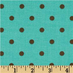 Polka Dot Aqua/Brown