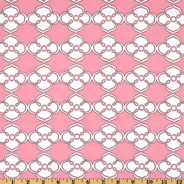 Polka Perch Floral Geo Pink
